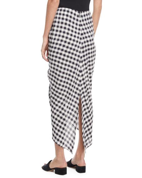 Roman Gingham Jacquard Skirt