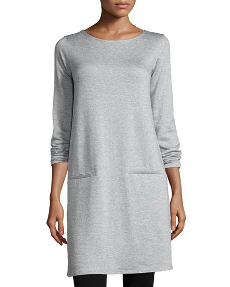 Eileen Fisher Long-Sleeve Fleece Tunic, Plus Size