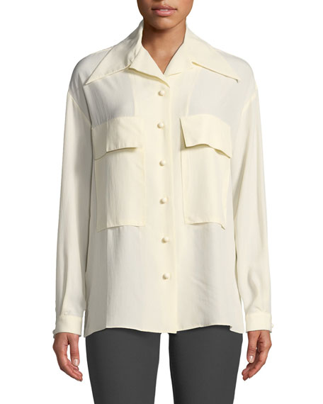 Cam Silk Toile Two-Pocket Shirt