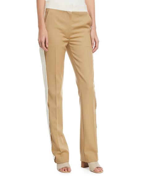 Winds Side-Stripe Flare Trousers