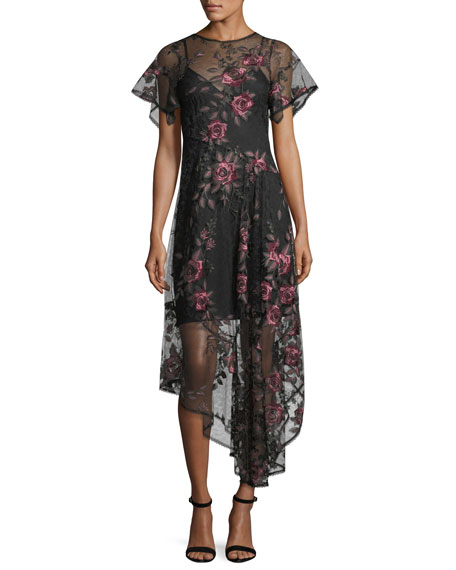 Flamenco Floral Silk Illusion Frock