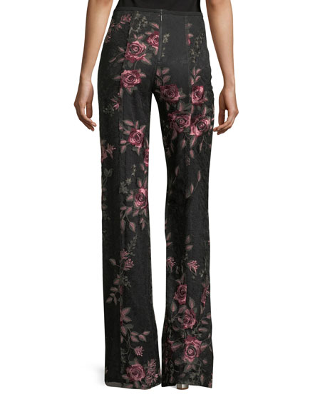 Bachata Wide-Leg Back-Zip Pants