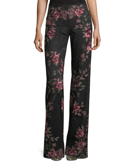 Nanette Lepore Bachata Wide-Leg Back-Zip Pants