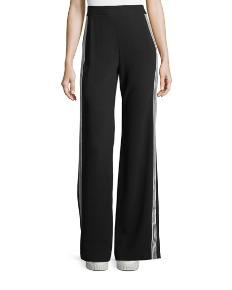Nanette Lepore Bonita Side-Stripe Back-Zip Pants