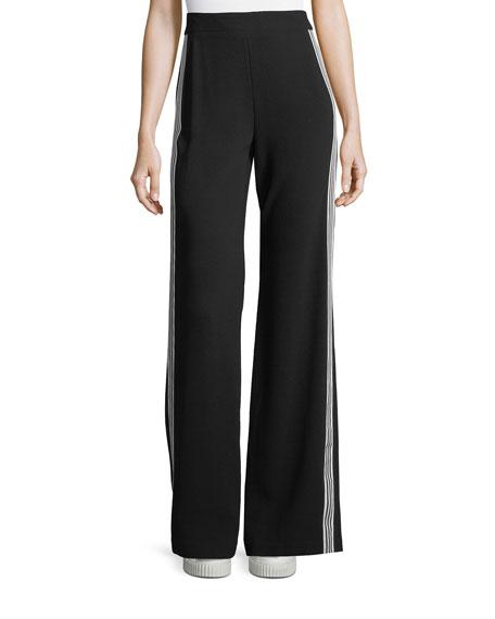 Nanette Lepore Bonita Side-Stripe Back-Zip Pants
