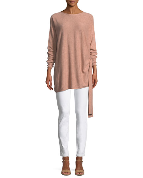 Cashmere Side-Tie Tunic