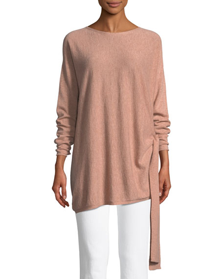 Eileen Fisher Cashmere Side-Tie Tunic, Plus Size