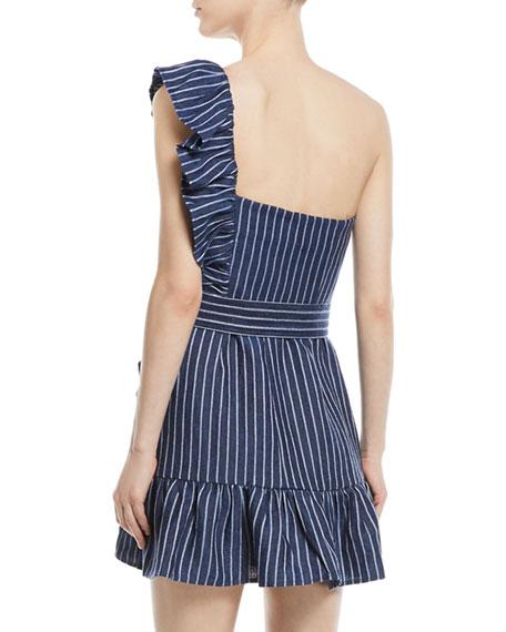 Konner One-Shoulder Striped Mini Dress