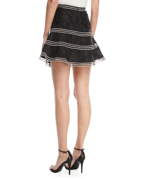 Kamryn Embroidered Flared Skirt