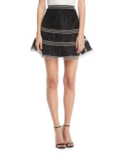 Kamryn Embroidered Flared Skirt