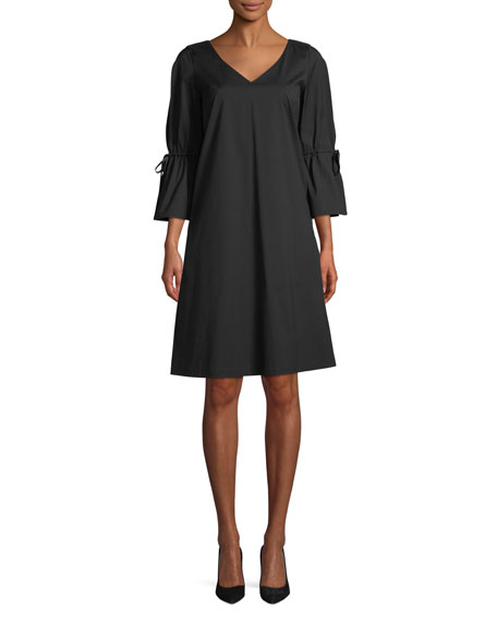 Lafayette 148 New York Riley Stretch V-Neck A-Line