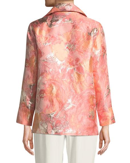 Sitting Pretty Floral Jacquard Jacket, Plus Size