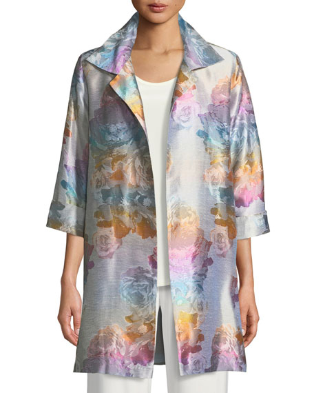 Ombre Rose Jacquard Party Jacket
