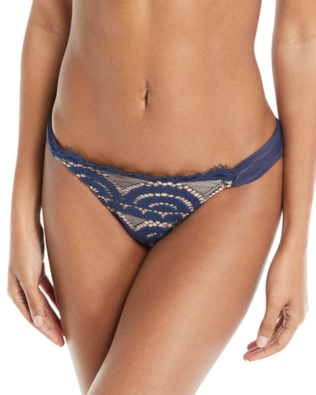 PilyQ Nautica Lace Full Swim Bikini Bottoms