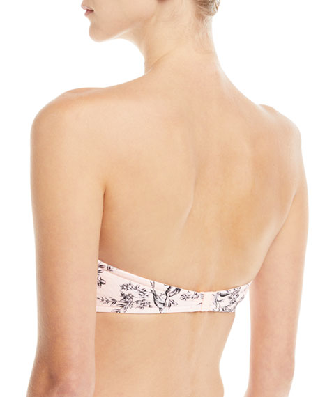 Love Bird Bustier Bandeau Swim Top