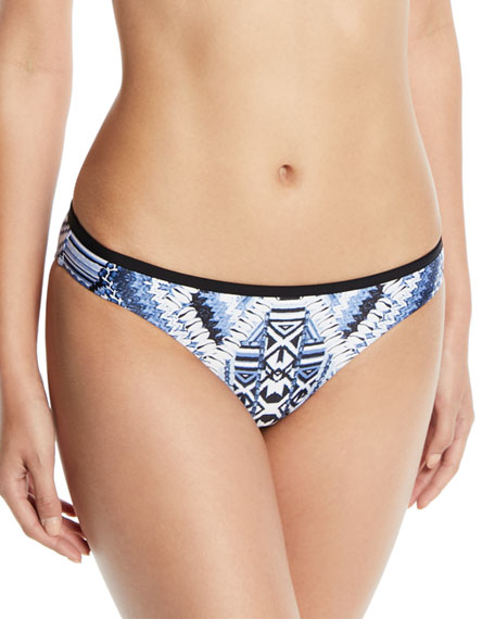 Desert Tribe Hipster Swim Bikini Bottom in Blue