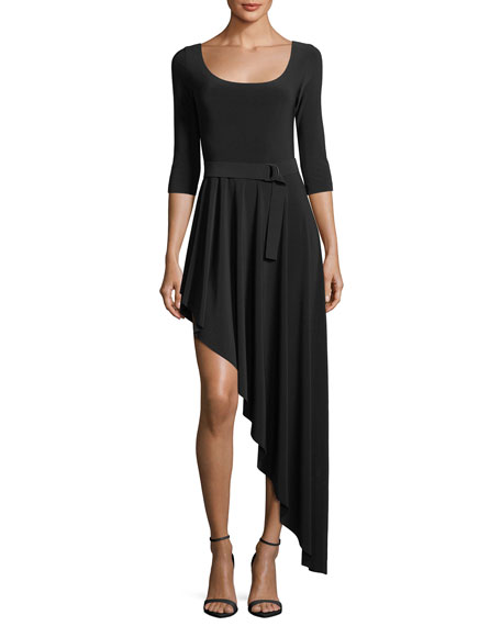 Reversible Asymmetric Flared Dress