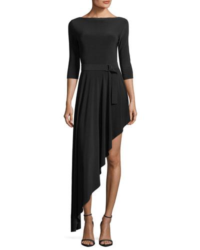 Reversible Asymmetric Flared Dress