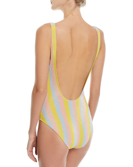 The Anne-Marie Maui Shimmer Striped One-Piece Swimsuit