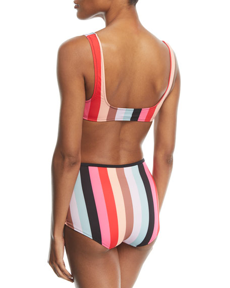 The Brigitte Malibu Stripe Swim Bikini Bottoms