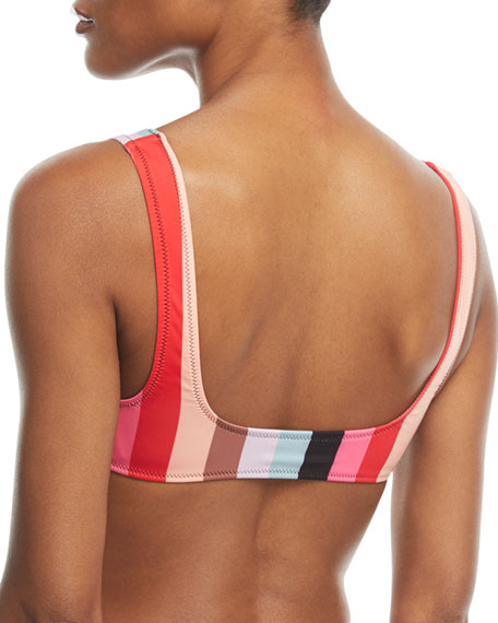 The Elle Malibu Striped Swim Top