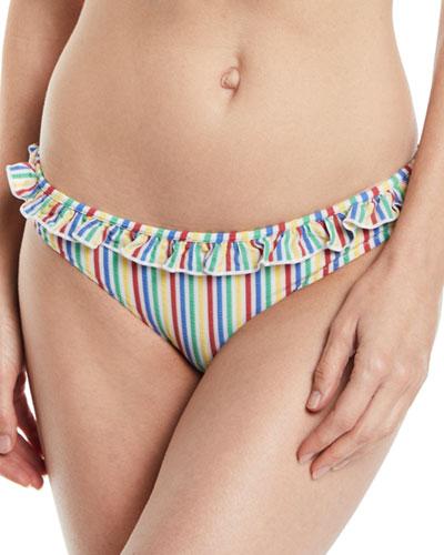 MIlly Seersucker Hipster Swim Bikini Bottoms