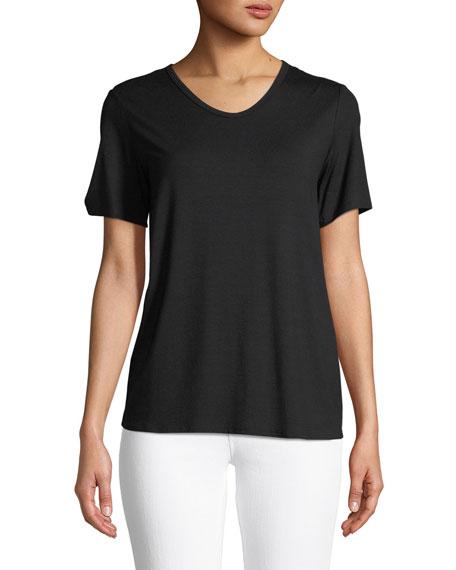Soft Jersey Easy V-Neck T-Shirt, Plus Size