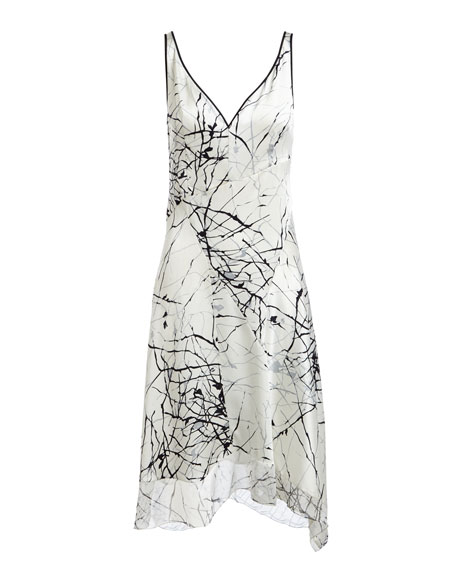 Seldana Silk V-Neck Dress