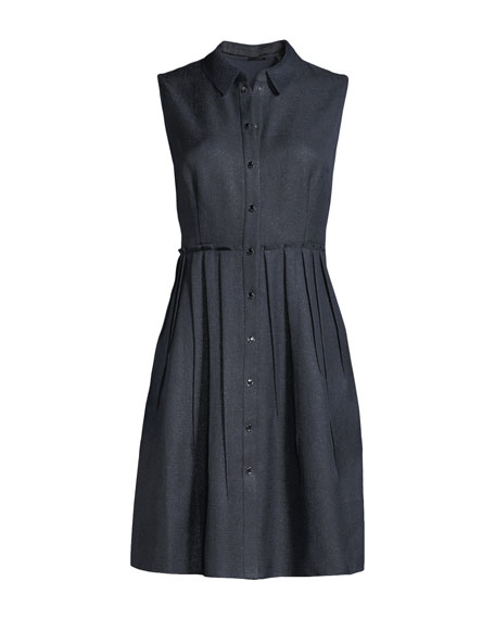 Samiyah Sleeveless Button-Front Dress