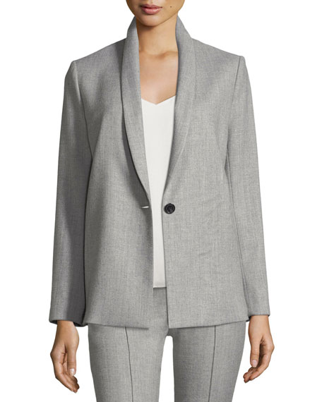 Alice + Olivia Marion Shawl-Collar One-Button Blazer