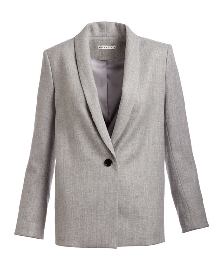 Marion Shawl-Collar One-Button Blazer