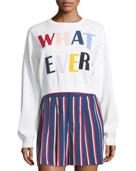 Alice + Olivia Leena Whatever Cropped Sweatshirt