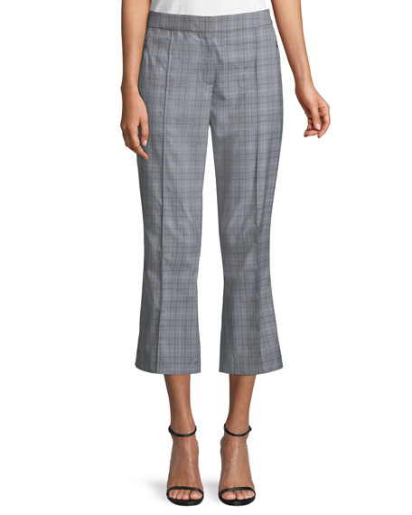 Elie Tahari Lisa Glen Plaid Cropped Pants