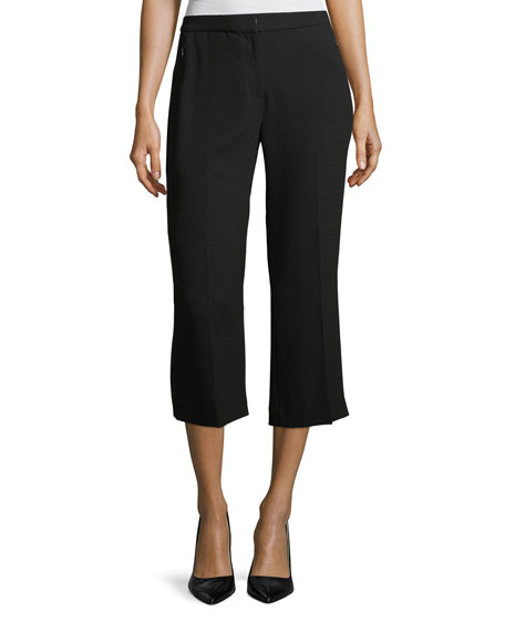 Elie Tahari Lisa Cropped Straight-Leg Pants