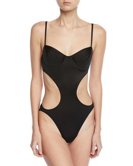 Norma Kamali Underwire Cutout Mio One-Piece Swimsuit