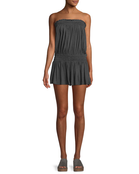 Strapless Peasant Coverup Romper