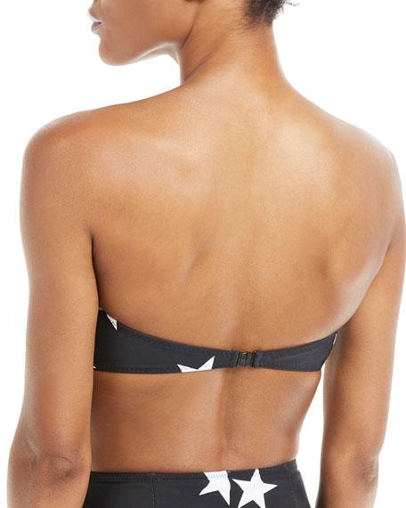 Sunglass Star-Print Bandeau Swim Top