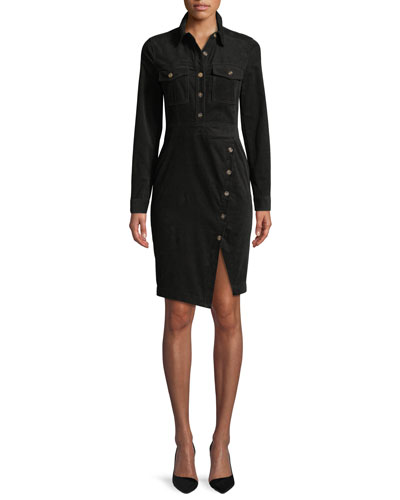 Britton Long-Sleeve Shirtdress