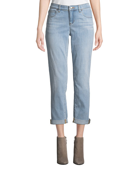 Eileen Fisher Stretch Boyfriend Jeans, Petite