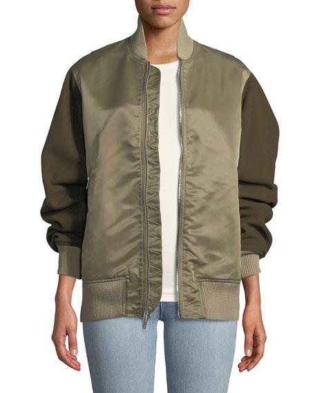 Elle Raglan-Sleeve Bomber Jacket