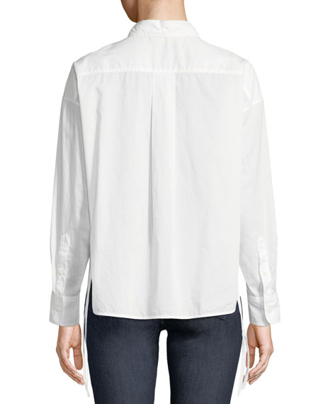 Cropped Self-Tie Mason Shirt