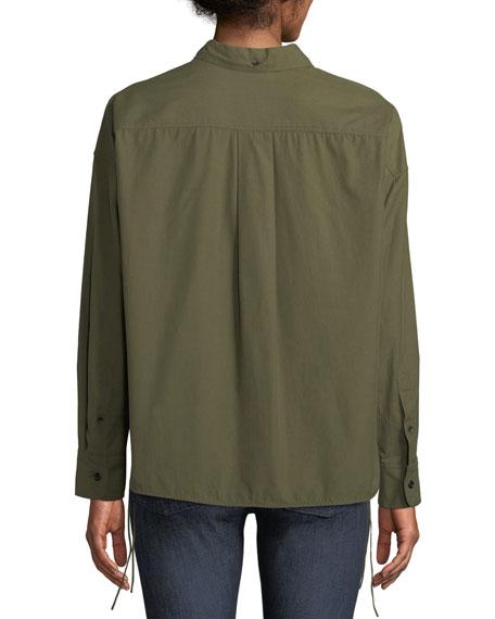 Mason Cropped Twill Shirt