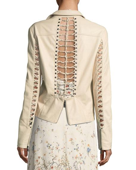 Shifting Sands Lace-Up Moto Jacket