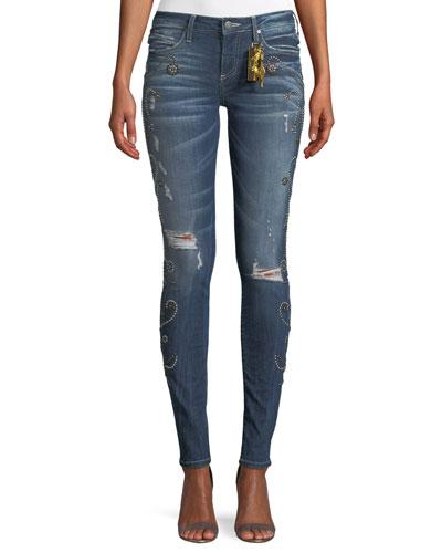 Jane Skinny Jeans w/ Side Studs