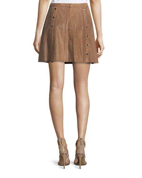 Heat Of The Sun Suede Short Skirt