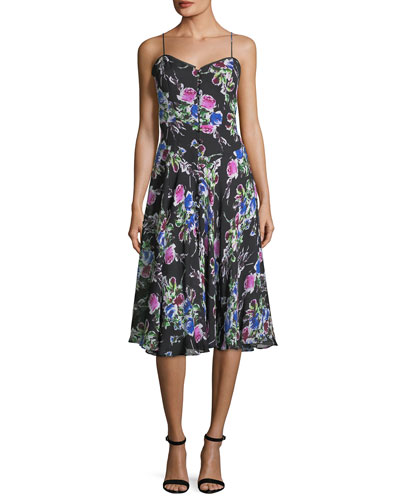 Emily Rose-Print Georgette Dress