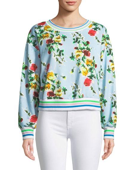 Tyler Rose-Print French Terry Sweatshirt