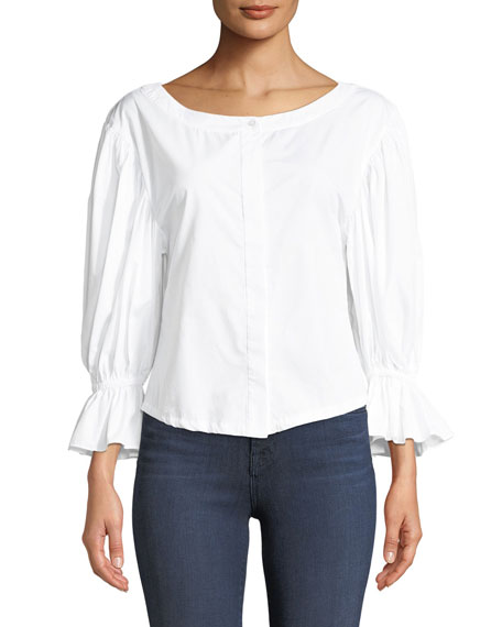 Nickie Shirting Cotton Top