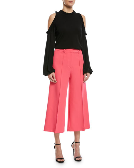 Hayden Flare-Leg Crop Trousers