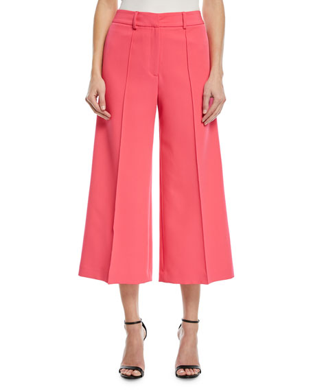 Milly Hayden Flare-Leg Crop Trousers